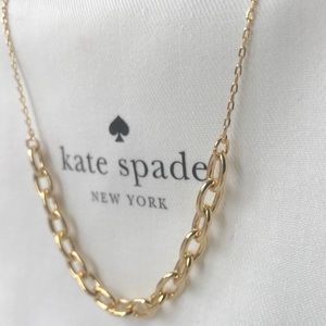 Kate Spade Rhodium plated gold tone necklace